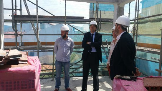 O presidente do consorcio supervisou as obras de Ferrería 10-12