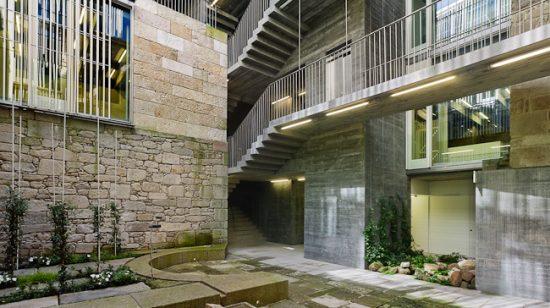 A sede dos Rexistro no Casco Vello, premio galego de arquitectura
