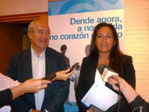 María José Bravo Bosch e José Luis Díez, jefe territorial da Consellería de Medio Ambiente, Territorio e Infraestruturas